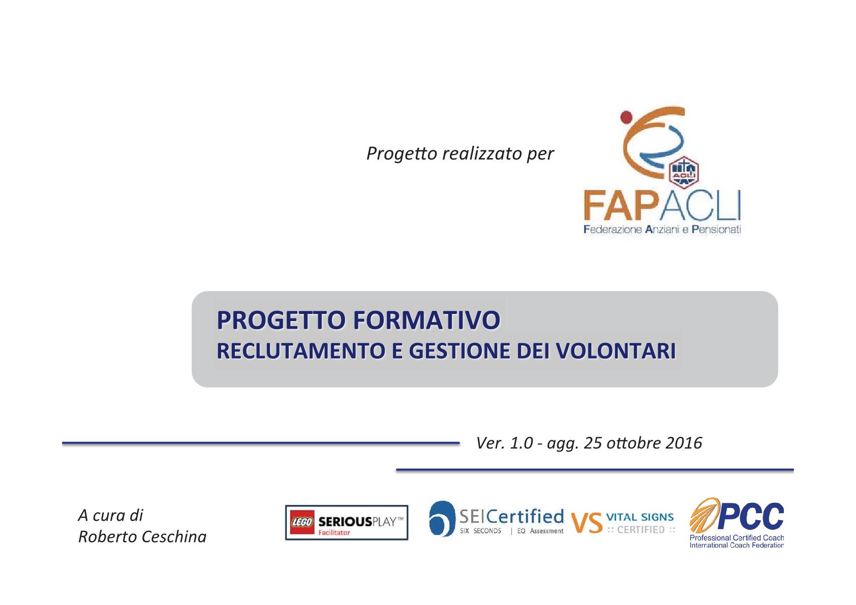 formazione defin Fap 20179